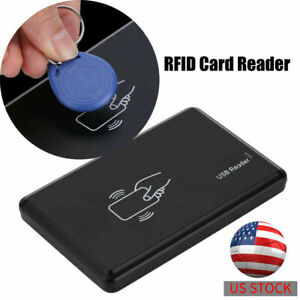 125khz Rfid id Em Usb Ic Card Reader Writer Copier Duplicator 5 Key Tags Black