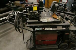 Lincoln Electric Invertec V350 pro Welder Lincoln Feeder Lf 74 With Cart