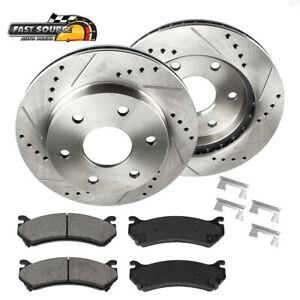 Front Drill And Slot Brake Rotors Ceramic Pads For Toyota 4runner Tacoma