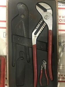 Blue Point Hl14 And Hl116p Adjustable Locking Pliers Large Small Set