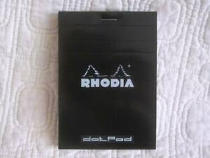 Rhodia Classic Small Black Notepad Staplebound dotpad Paper Made In France