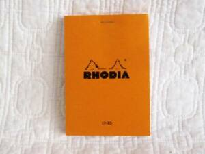 Rhodia Classic Small Orange Notepad Staplebound lined Paper Made In France