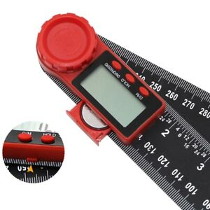 2 In 1 200mm 8 Protractor Ruler Electronic Lcd Digital Angle Finder Goniom Ti