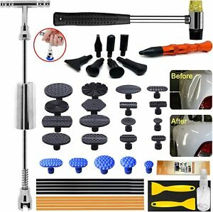 Auto Body Dent Repair Tool Dent Repair Kit With Slide Hammer T Bar Dent Puller