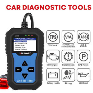 Konnwei Kw350 Backlit Obd2 Diagnostic Fault Code Scanner For Vag Car Vw Audi
