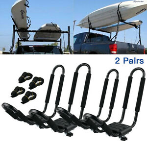 2 Pairs J Bar Kayak Carrier Rack Steel Straps Kit Ski Board Snow Board Truck