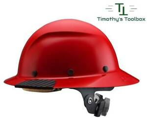Lift Safety Dax Red Full Brim Hard Hat W Ratchet Suspension