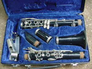 EVETTE CLARINET BUFFET CRAMPON Parts in PLASTIC Case