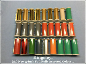 Kingsley Machine 27 new 3 inch Foil Rolls Hot Foil Stamping Machine