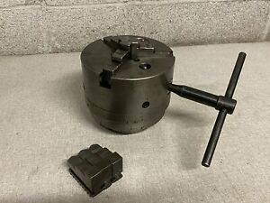 Cushman 6 3 Jaw Lathe Chuck W 2 3 8 6 Tpi South Bend Back Plate Extra Jaws