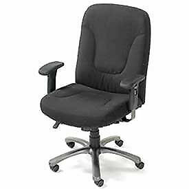 Big Tall Contoured Office Chair Fabric Upholstery Black