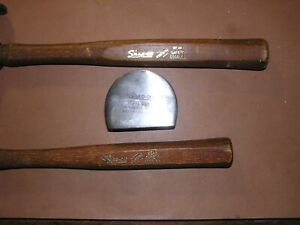 Lot Of Snap On Auto Body Hammers Bf 603 Bf 615 Dolly Bf 711 Perfect Condition