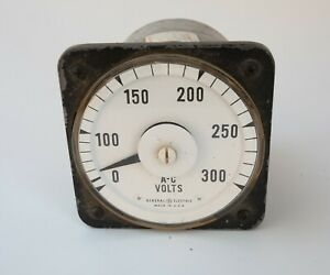General Electric A c Gauge 0 300 Volts s4r Ac Voltmeter Model 8ab 18v3am1 Vtg