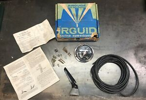 Airguide Sea Speed Marine Boat Speedometer 0 45 Mph Vintage 4787 Pitot Pickup