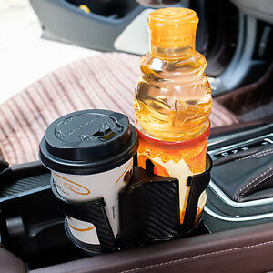 2 In 1 Auto Car Seat Cup Holder Food Drink Bottle Mount Stand Storage Organizer