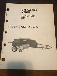 New Holland Hayliner Baler 316 Operator s Manual