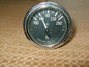 Vintage Stewart Warner Oil Temperature And Water Temperature Gauges Nos