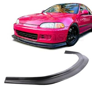 Fit For 92 95 Honda Civic Coupe Hatchback Jdm Dp Style Front Bumper Add On Lip