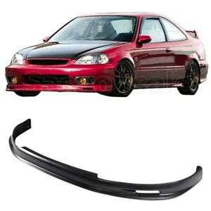 Fit For 99 00 Honda Civic 2dr 3dr 4dr Jdm Mu Style Front Bumper Add On Lip