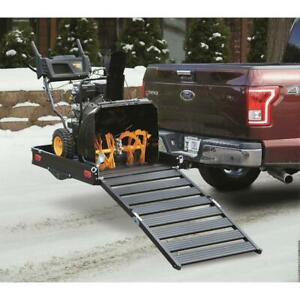 Hitch Cargo Carrier With Folding Ramp Aluminum Haul With 3 Position Ramp Black
