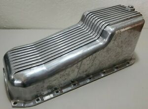 58 79 Chevy Small Block Aluminum Oil Pan Retro Finned 283 307 327 350 Sbc