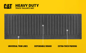 Cat Heavy Duty Waterproof Rubber Tailgate Mat Pad Protector For Trucks
