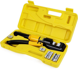 Hyclat 10 Tons Hydraulic Wire Battery Cable Lug Terminal Crimper Crimping Tool