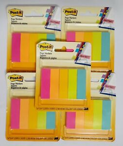 Post it Page Markers 1 2 x1 3 4 5 Assorted Colors 5 Packages 1250 Markers