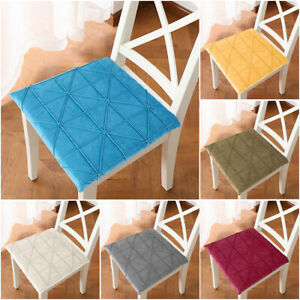 Chair Pads Cushions Memory Foam Seat Cushion Velvet 16in For Home Office Chair