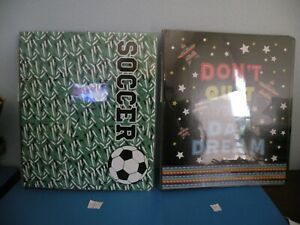 3 Ring Binder 2 Styles Pick 1 Soceer Dont Quit Your Day Dream New S1 s2