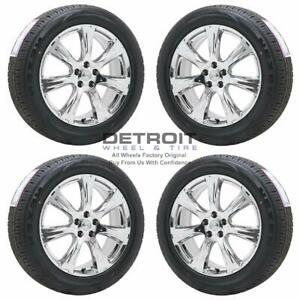 20 Nissan Murano Pvd Bright Chrome Wheels Rims Tires Oem Set 4 2012 2015