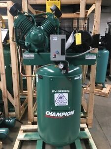 Champion 7 5hp 2 stage Single Phase 80 Gal Air Compressor With After Cooler