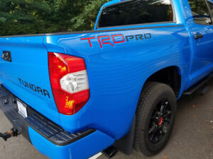 Toyota Tundra Trd Pro Bed Vinyl Lettering Decals Sticker Graphics Waterproof