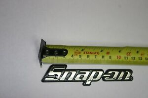 Snap On Tools Toolbox Logo Nameplate Brand New W Mounting Adhesive 4 5 8 Long