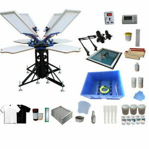 Techtongda 4 Color T shirt Screen Printing Kit press With Material Package006948
