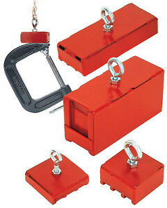 Heavy Duty Magnetic Base100lb Pull Red 07541 1 Each