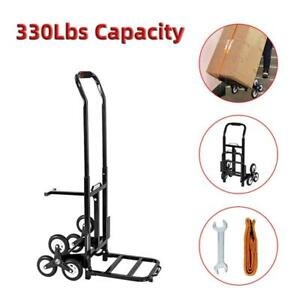 Us 330lb Stair Climbing Climber Moving Dolly Hand Truck Warehouse Appliance Cart