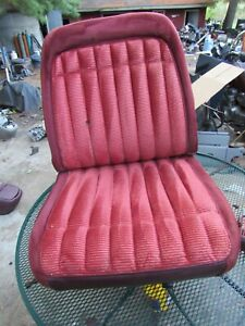 1988 94 Chevy Gmc Truck Suburban Tahoe Yukon Lh Red Low Back Bucket Seat