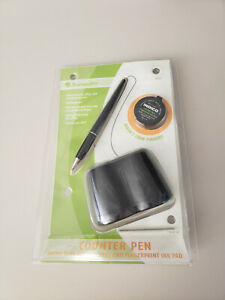 Baumgarten s Counter Pen W Fingerprint Pad Retractable Refillable Pen 38032