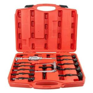 Blind Hole Pilot Internal Extractor Remover Bearing Puller Set 16pcs W Red Case