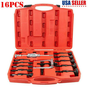 16pc Blind Hole Pilot Internal Bearing Puller Bushing Remover Extractor Tool Set