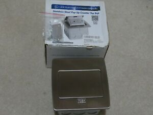 Lew Electric Stainless Steel Pop Up Counter Top Plug Pufp ct ss 20a Gfi Kitchen