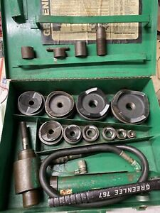 Greenlee 7310 Hydraulic Metal Knockout Punch Set 1 2 4 Conduit Ko Ed4u 8184a