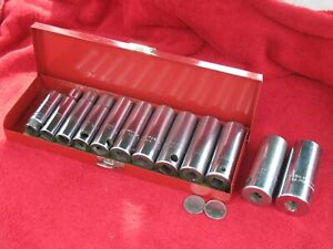 Proto Tools Sockets Deepwell Set 1 2 In Drive S A E In Labeled Metal Case