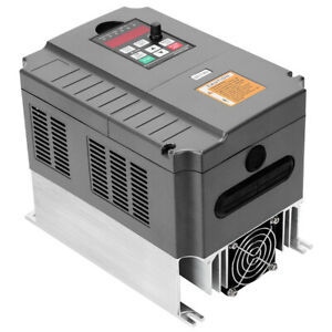 220v 5 5kw Vector Control Cnc Vfd Variable Frequency Inverter Single To 3 phase