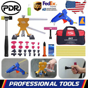 Pdr Paintless Dent Removal Lifter Glue Gun Tab Slide Hammer Car Repair Tools Kit