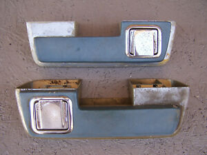 Mopar 1964 65 B C Body 10 Rear Armrest Bases Pads Dodge Plymouth Chrysler