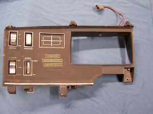 Mopar 1969 70 71 Plymouth Fury Dash Gauge Instrument Bezel With Switches 1970