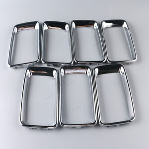 Fit For Jeep Grand Cherokee 2014 15 16 Chrome Front Grill Grille Trim Ring Set