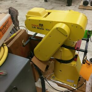 Nice Lot Fanuc Lr Mate 100 Rj 2 5 axis Robot Arm W Pendant Power Supply Cables